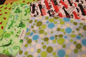 Posh pouches in various fabrics
