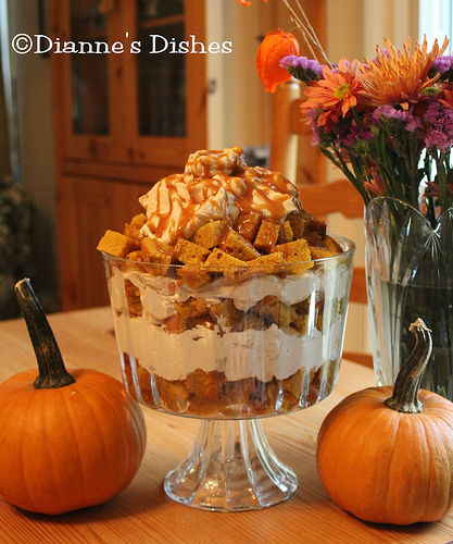 Pumpkin Trifle, from Dianne's Dishes