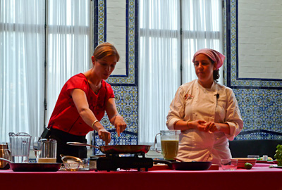 Culinary Night at the Mexican Cultural Institute with Pati Jinich and Fani Gerson, photo by Andrea Meyers