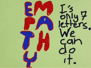 Start Empathy poster by Sara Brodsky