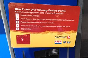 Safeway Rewards at Exxon or Mobil