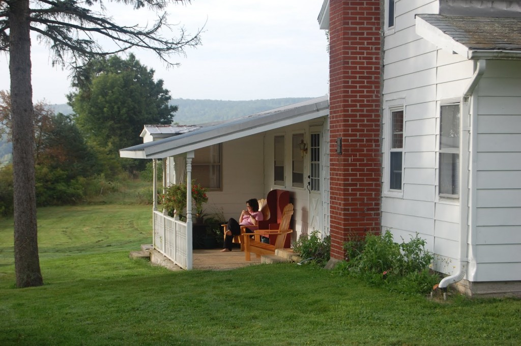 The farmhouse we rented in upstate New York.