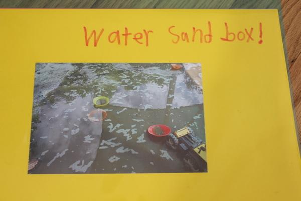 water sandbox child-taken photo