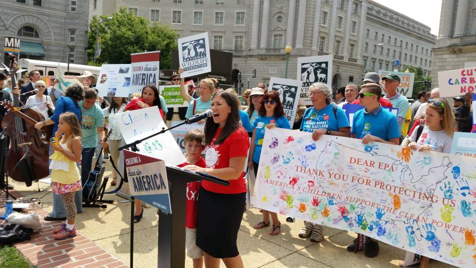 Moms Clean Air Force EPA rally Trisha and Logan