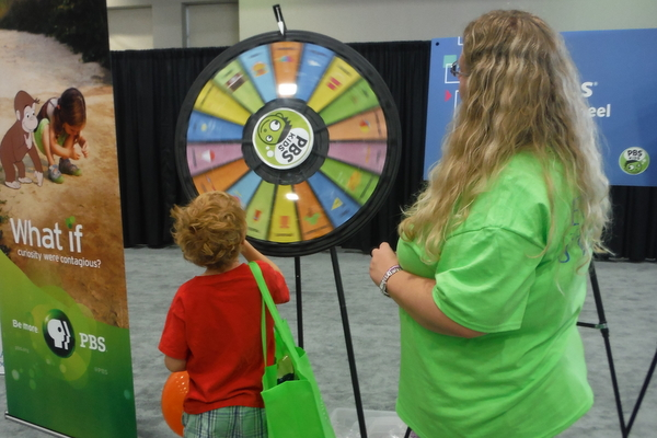 2014 National Book Festival PBS Kids wheel game
