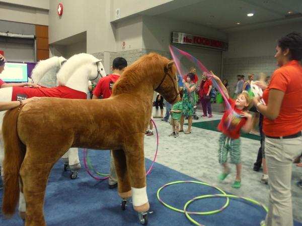 2014 National Book Festival Wells Fargo horse hula hoop