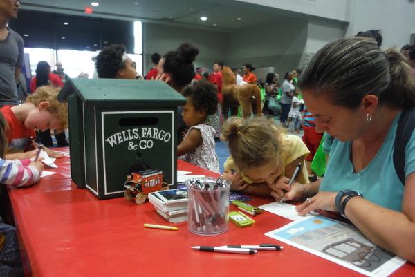 2014 National Book Festival  Wells Fargo post