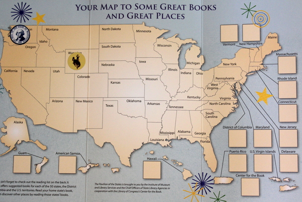 2014 National Book Festival states map