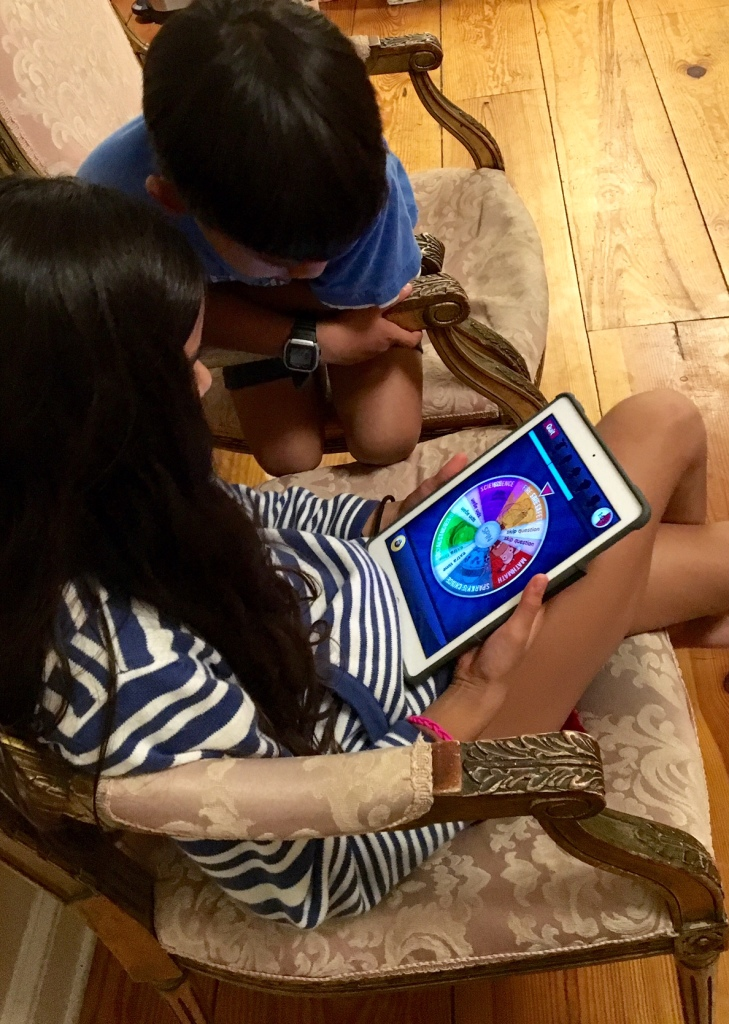 kids playing brain busters