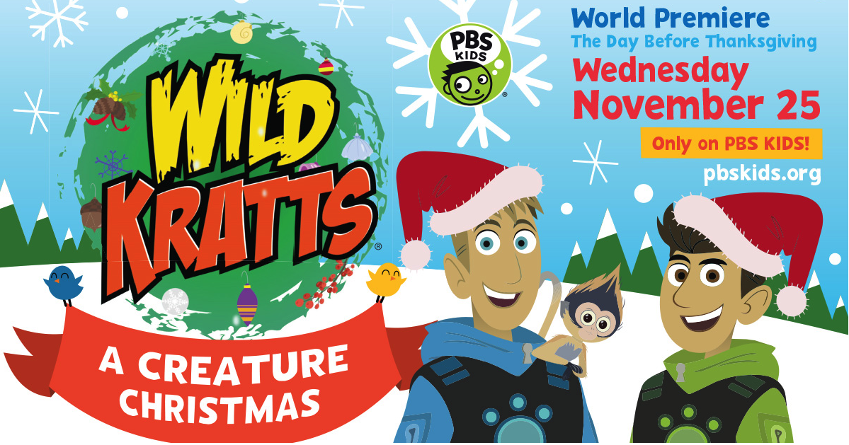 pbs kids premieres wild kratts christmas nature cat the dc moms