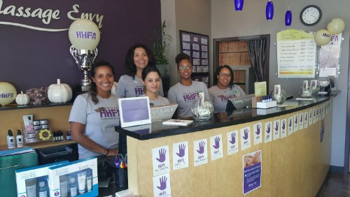 Staff at the College Park Massage Envy * photo: