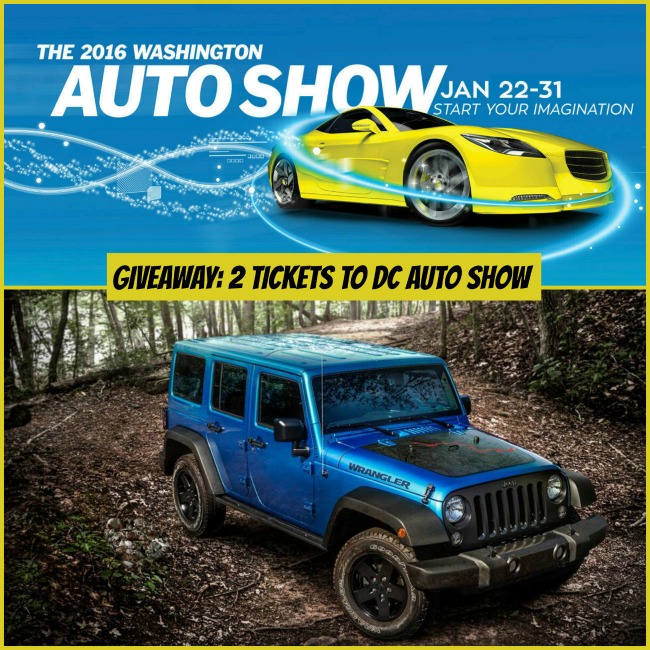 Giveaway DC Auto Show Tickets THE DC MOMS - Washington car show discount tickets