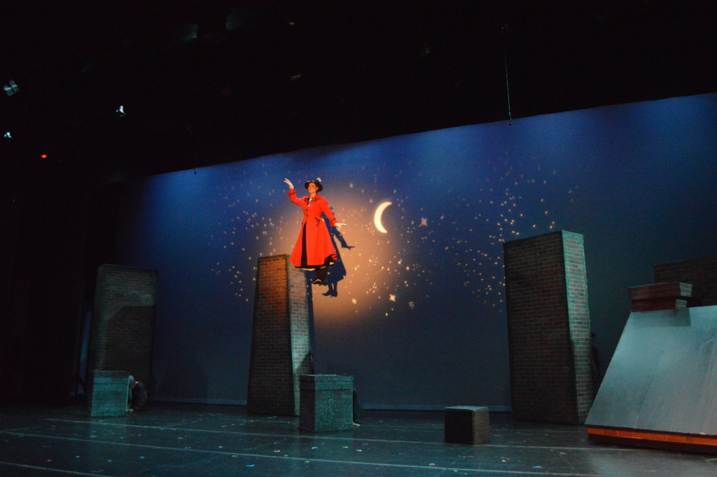 Mary Poppins Encore Stage and Studio flying