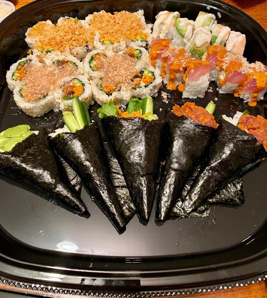 Kura Sushi rolls
