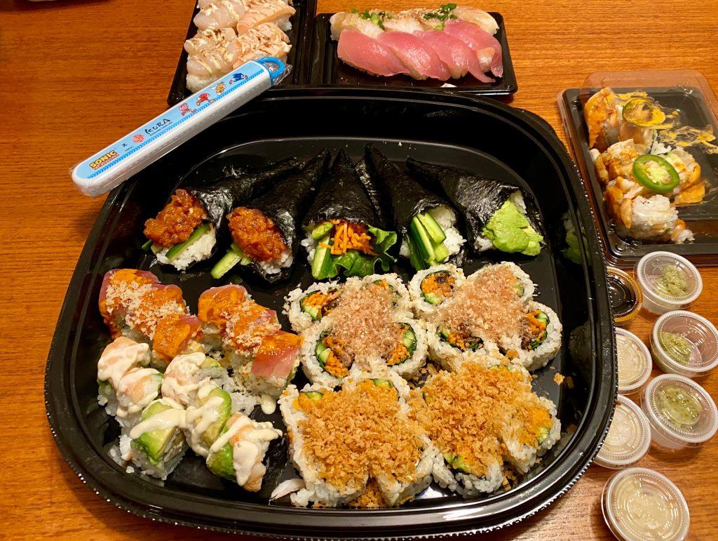 Kura Sushi platter