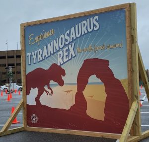 Dino Safari: T-rex sign